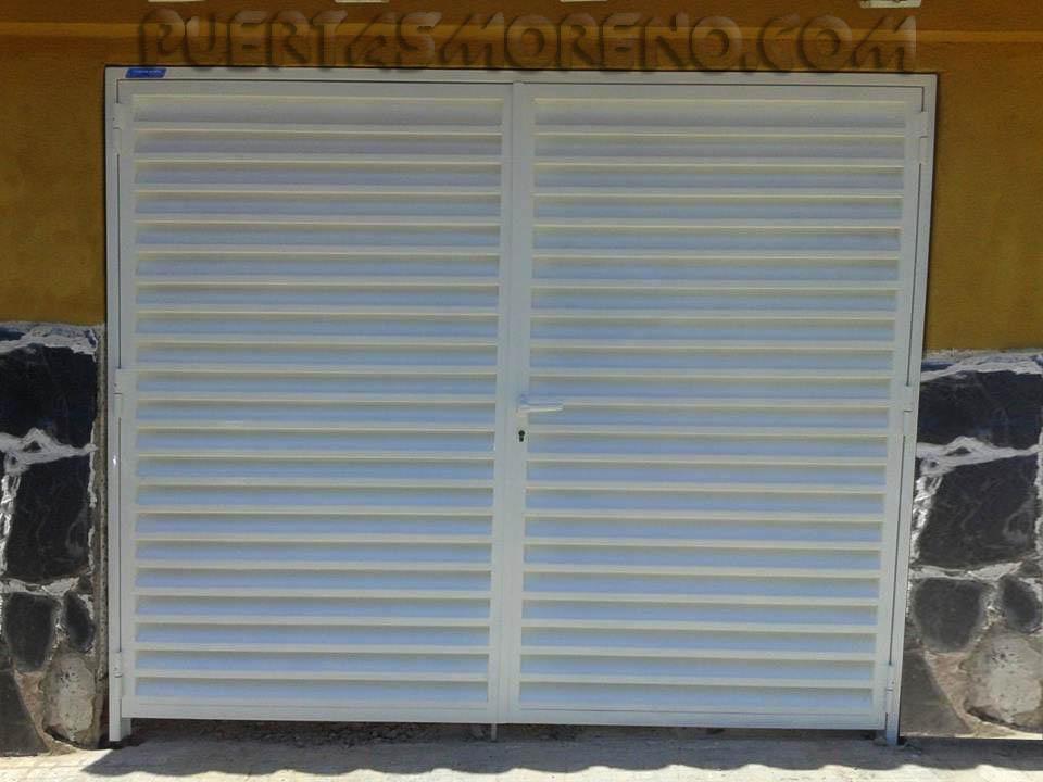Doble hoja veneciana puertas moreno for Puertas venecianas