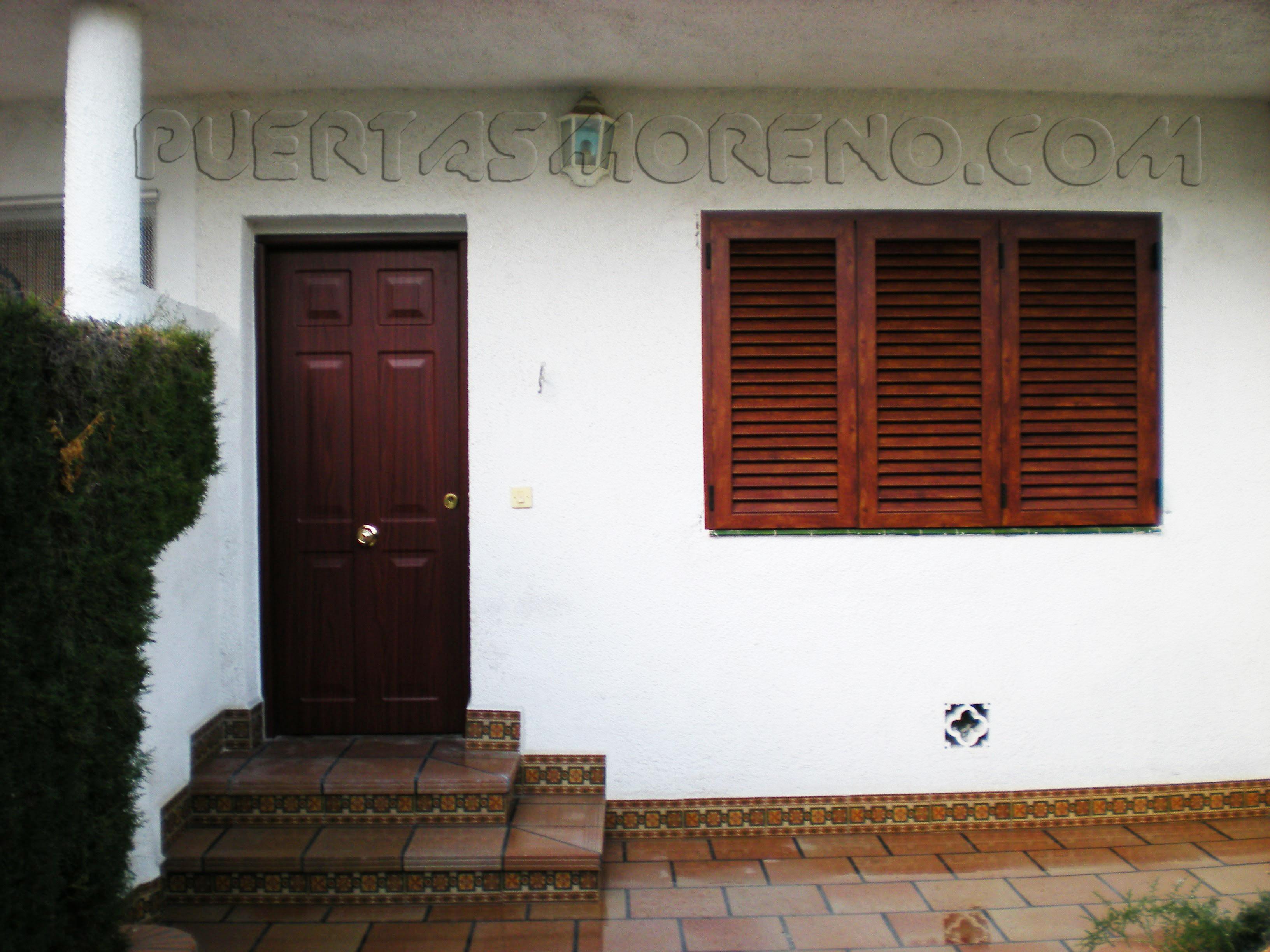 Puertas y ventanas venecianas de aluminio puerta for Puertas venecianas
