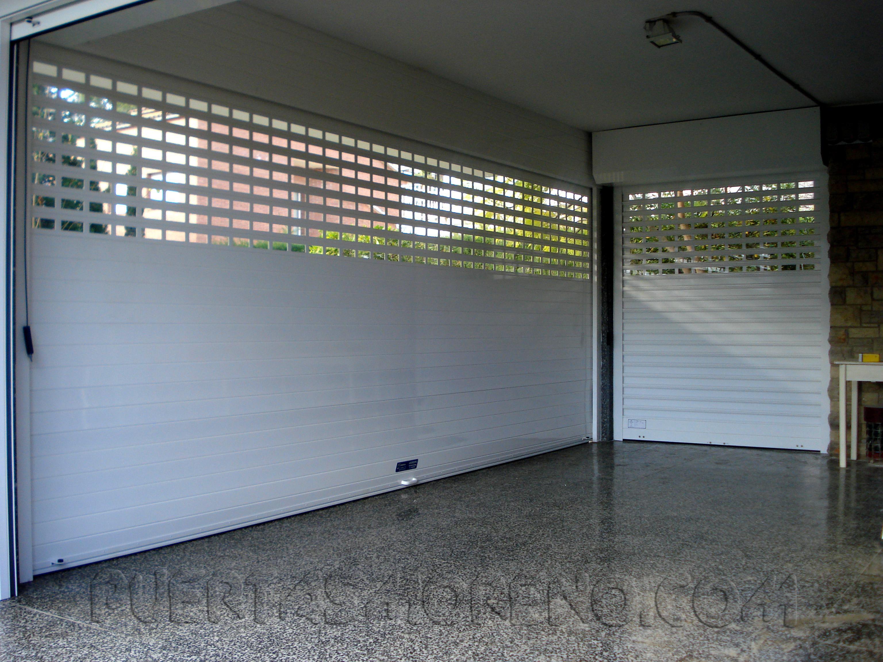 Enrollable de aluminio con dise o personalizado puertas for Disenos de puertas de aluminio